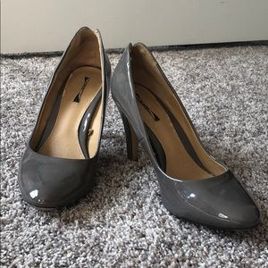 Grey Patent Leather Pumps